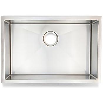 Avalon 1882 27 Premium Quality Handmade Stainless Steel Kitchen Sink Single Bowl Undermount 16 Gauge 30 Cabinet