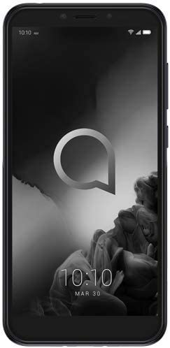 "Alcatel 1S Unlocked Smartphone 5024J - 5.5"" HD+, 32GB + 3GB RAM Android 9 Pie, 16MP Rear Camera, Dual SIM 4G LTE Face Unlock Fingerprint - International Version (Black) 31qrdN09zfL"