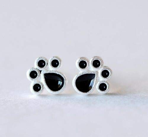 TryMarket(TM) Fashion Lovely Cat Dog Paw Animal Foot Print Stud Earring Jewelry