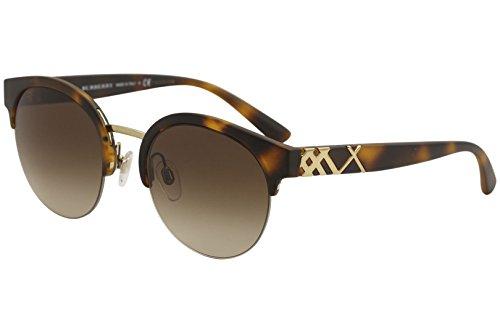 Burberry Women's 0BE4241 Matte Light Tortoise/Gradient Brown One Size Burberry Brown Tortoise Sunglasses