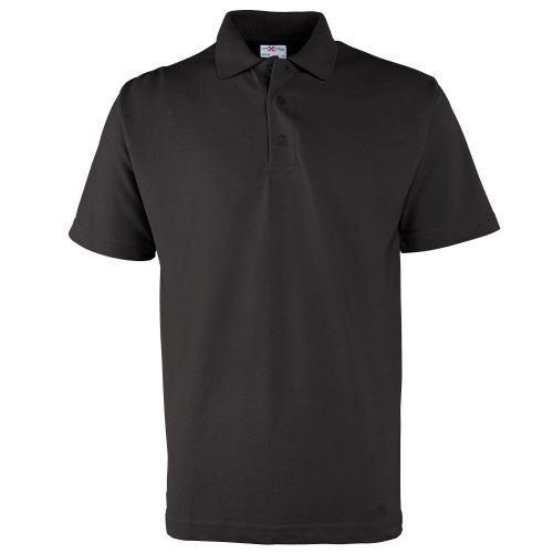 RTXtra Mens Pique Knit Classic Polo Shirt (XXXL) (Black)