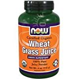 wheatgrass now - NOW Organic Wheat Grass Juice Powder,4-Ounce