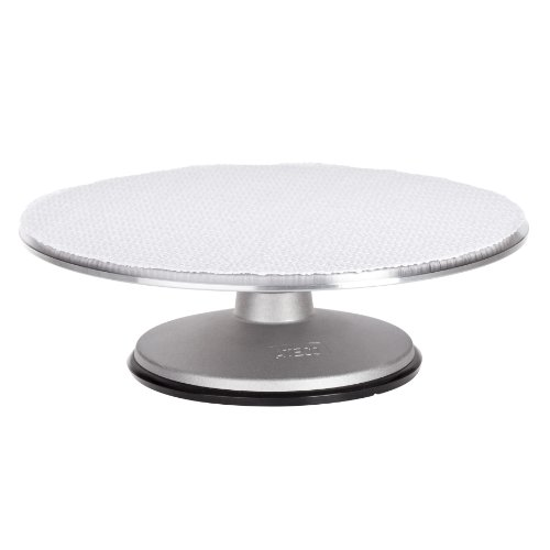 Ateco 613 Revolving Cake Decorating Stand, Aluminum Turntable and Base with Non-Slip Pad, 12-Inch Round