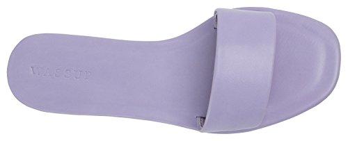 AnnaKastle Womens Slide AnnaKastle One Womens Lavender Band Flat Sandal 1qP1wUEr