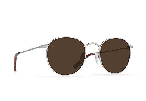 Raen 100U171BEN Benson Round Wire Sunglasses, Burlwood/Brown - 51 by RAEN optics