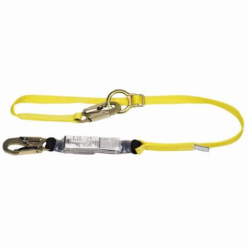 MSA (Mine Safety Appliances) 10072472 MSA Workman Single Leg Shock-Absorbing Tie-Back Lanyard with LC Harness Connection and LC Anchorage Connection, Plastic, 1