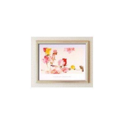 ちひろの温かい雰囲気とかわいらしい絵を大きなポスター額に 115184 いわさきちひろポスター額 銀 花と少女 B07D8PLBQT