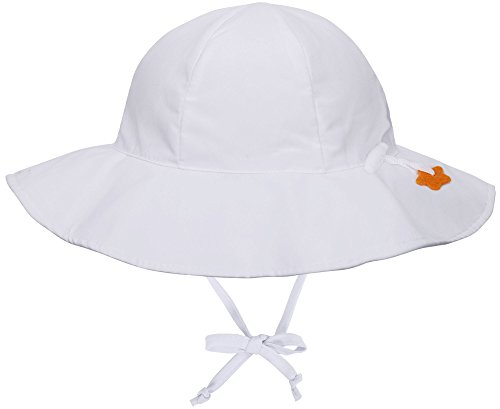 (Jasmine Kids' UPF 50+ Sun Protection Wide Brim Safari Bucket Hat,White,2-4 Years)
