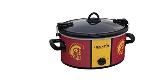 (Crock-pot SCCPNCAA600-SCT Southern California Trojans Slow Cookers, White)