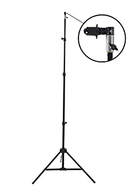 """Fovitec StudioPRO - 1x 7'6"""" Pop Out Muslin Backdrop & Reflector Clip Stand - [Includes Light Stand and Clip][Backgrounds Sold Separately] by Fovitec (USA) International Inc."""