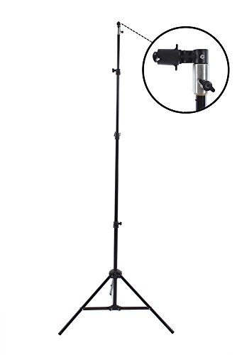 Fovitec StudioPRO – 1x 7'6″ Pop Out Muslin Backdrop & Reflector Clip Stand – [Includes Light Stand and Clip][Backgrounds Sold Separately]