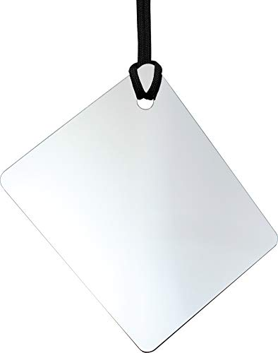 (ReflectX Travel Shower Mirror - Light and Durable - Made in The U.S.A. - Shatterproof - Easily Eliminate Fog and Shadows for a Clear Fog Free Reflection. (unclad))