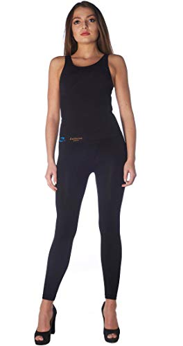 Anti cellulite slimming leggings (Fuseaux) with caffeine microcapsules - Black size (Best Sealy Anti Cellulite Treatments)