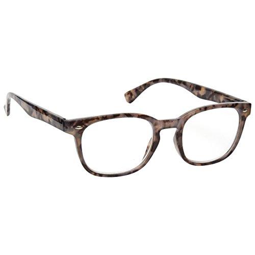 Grey Tortoiseshell Wrap Near Short Sighted Distance Glasses Myopia Gregory Peck Style Mens Womens M14-7 -1.50