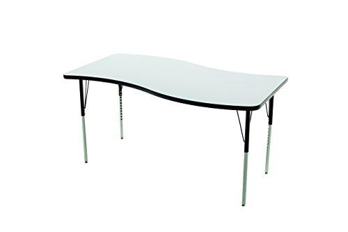 Whiteboard Table/Marker board Table, Activity Legs Wave, 24