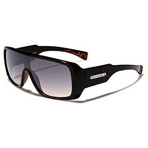 Biohazard Goggle Style Tortoise Detail Mens Designer Sunglasses Amplifier Shades