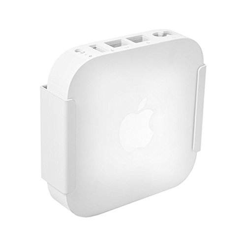 HIDEit Air-XS Wall Mount (White) | Bracket for Apple Airport Express MC414LL/A - Made in the USA - Apple Wall Mount