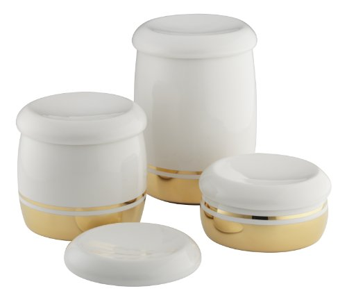(Kohler 14181-PD-0 Laureate Countertop Accessories, White)
