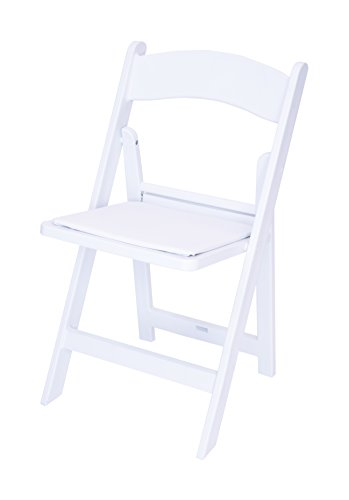 50 Piece White Resin Folding Chair Package - Top Seller by ACT