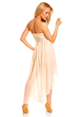 40d53ff1b79d ... Sexy Vokuhila Kleid Pailletten kurz Cocktailkleid Abendkleid Partykleid  Chiffon, verschiedene Farben Apricot