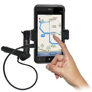 Amzer AMZ94303 Lighter Socket Phone Mount with Charging a...
