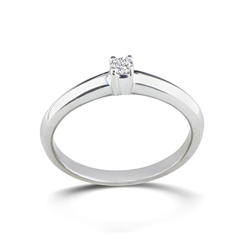 sterling silver promise ring 0 06ct lifestyle