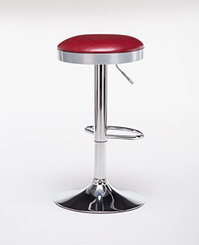 Boraam 98010 Copley Backless Stool, 1-Pack, Adjustable Height, Red by Boraam (Image #3)