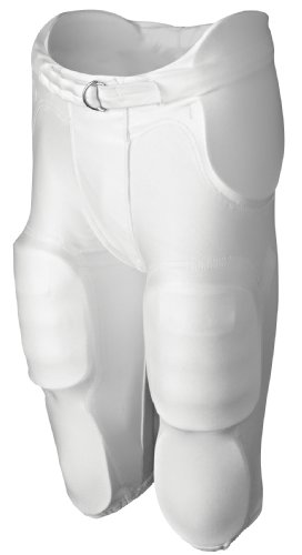 Rawlings F4500P Adult Integrated Football Pants (White, Medium)