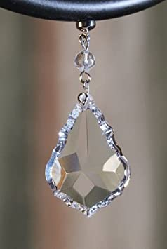 MagTrim Set 6 1.5 Clear Crystal PENDALOGUE Drop – Magnetic Chandelier Crystals,Replacement Chandelier Crystals,Prism Pendants,Hanging Crystals for Chandeliers,Crystal Prisms Glass,Crystal Beads