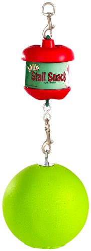 31qrxBuuGvL - Horsemen's Pride Stall Snack Holder with Apple-Scented Jolly Ball for Horses