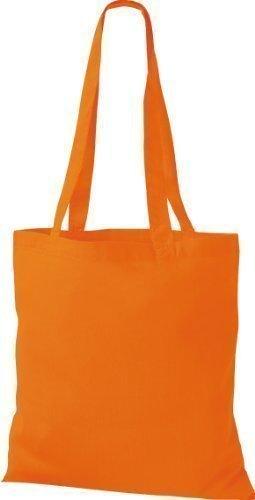 Shirtinstyle - Bolsa de algodón con asa naranja - naranja