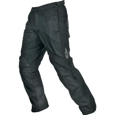 Alpinestars Air-Flo Textile Pants , Distinct Name: Black, Size: 3XL, Gender: Mens/Unisex, Primary Color: Black, Apparel Material: Textile 332-253-10-3X by Alpinestars