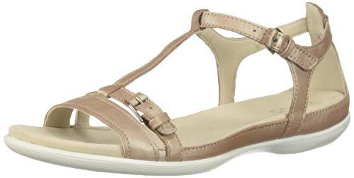 ECCO Women's Women's Flash T-Strap Flat Sandal, Champagne, 40 M EU (9-9.5 US) ()