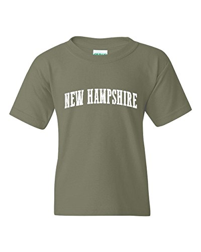 Ugo NH Flag Manchaster Concord Map Wildcats Home University of New Hampshire Unisex Youth Kids T-Shirt Tee - Nh Concord Stores