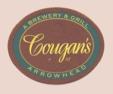 Cougan's A Brewery & Grill At Arrowhead Paperboard Coasters - Set of 4