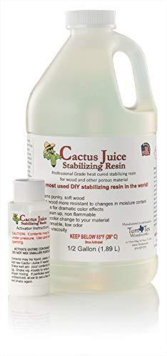 Mesquite Man's Cactus Juice Stabilizing Resin (1/2 Gallon (1.89 L)) by BEST VALUE VACS (Image #1)