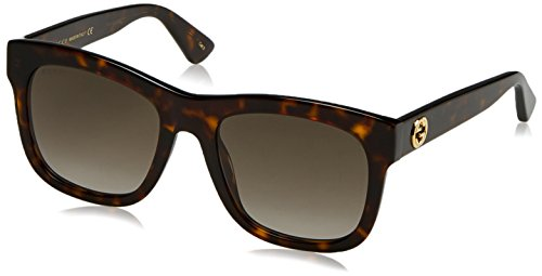 Gucci GG0032S Sunglasses 002 Havana Brown 54 - Wayfarer Gucci