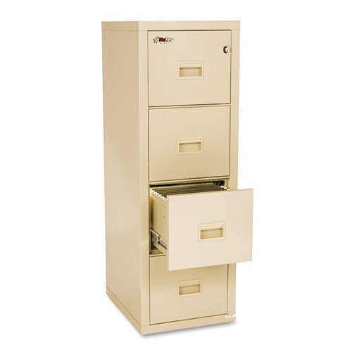 Fireking Turtle 4-Drawer File, 17-3/4w x 22-1/8d, UL Listed 350° for Fire, Parchment - BMC-FIR 4R1822CPA