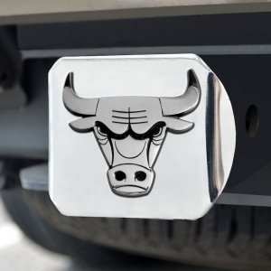 Chicago Bulls Trailer Hitch Cover - FANMATS 15117 FanMats NBA-Chicago Bulls Hitch Cover 4 1/2x3 3/8