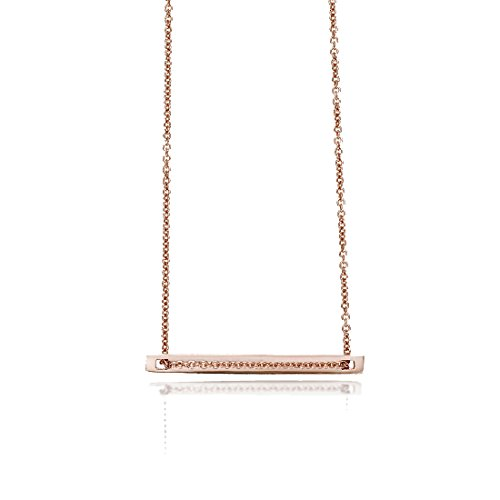 - SEVEN50 Small Plate Necklace Rose Gold Extremely Durable 9K Rose Gold Real Classic Gift Box
