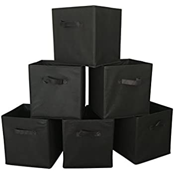 Nice Marvel O Bug Foldable Cloth Storage Cube Basket, Set Of 6, Black