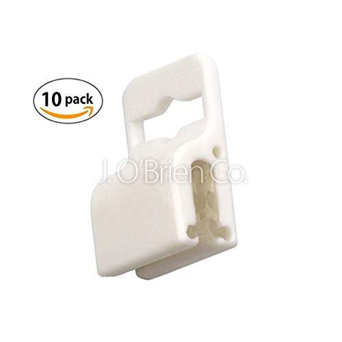 (Brady White Gripper 30 Badge Holder - 10 Pieces (5710-3058))