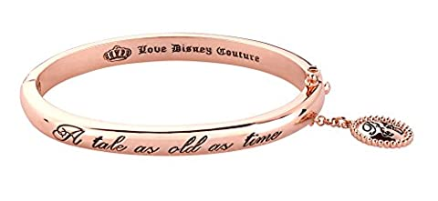 Rose Gold Plated Beauty The Beast A Tale As Old As Time Bangle from Disney Coutu