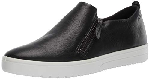 - ECCO Women's Women's Fara Zip Sneaker, Black, 41 M EU (10-10.5 US)