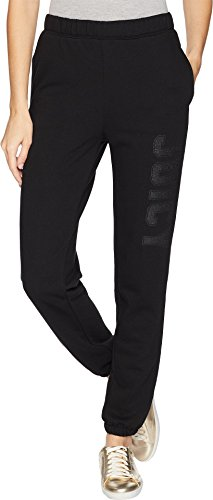 Juicy Couture Women's Pull-On Pants w/Logo Pitch Black Large ()
