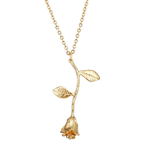 Style Pendent Necklace - Cyntan Fashion Women Pendent Simple Y Necklace Long Drop Rose Necklace For Girls Gold Tone Metal Chain (Style # 1)