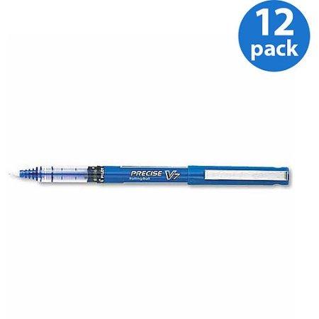Pilot Precise V7 Roller Ball Stick Pen Needle Point Blue Ink 0.7mm Fine 12pk (Needle V7 Precise)