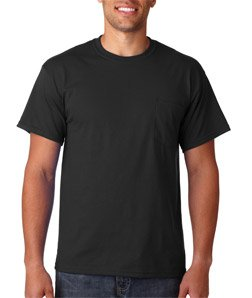 Gildan G2300 Adult Ultra CottonTM T-Shirt with Pocket Black