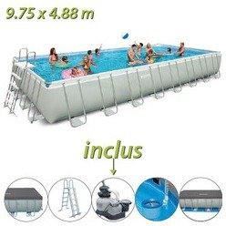 piscine tubulaire intex 975 x 488 x 132 cm rectangulaire