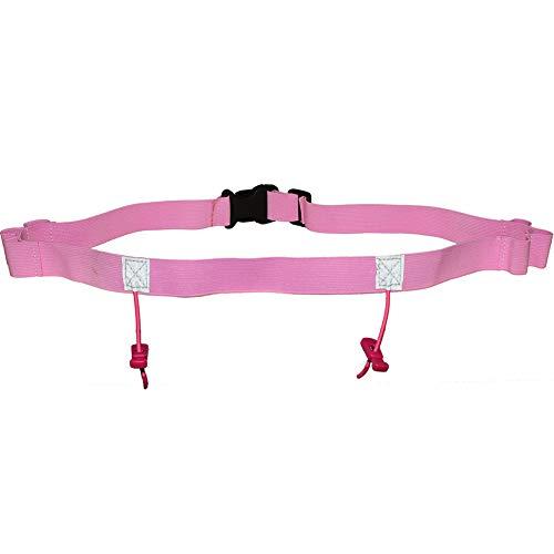 61829626fbe3 Race Number Belt for Triathlon Ironman Marathon Running with Reflective  Running Belt Cloth Belt 6 Gel Loops Motor Outdoor Waist Pack (Pink)